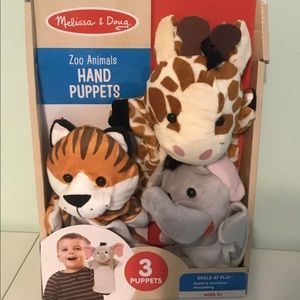 Melissa and Doug Hand Puppets Set of 3